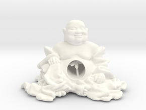 HOTEI AND TREE 2'' in White Processed Versatile Plastic