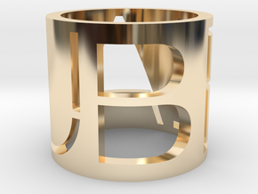 Beau Brand Ring in 14k Gold Plated Brass