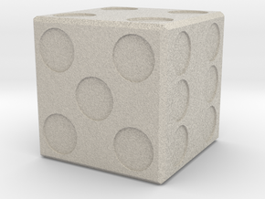 Simple Die in Natural Sandstone