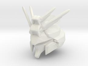Custom Gundam Inspired Helmet for Lego in White Natural Versatile Plastic