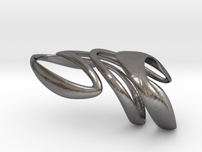 AKUSENTO Ring in Polished Nickel Steel