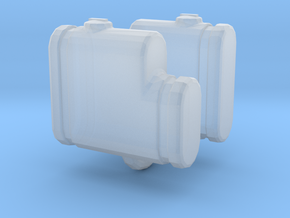 1/64 250 gallon saddle tanks, set of 2 in Smooth Fine Detail Plastic