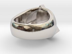 Saint Vitus Ring Size 10 in Rhodium Plated Brass
