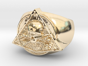 Saint Vitus Ring Size 15 in 14k Gold Plated Brass