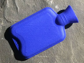 Hot Water Bottle Regular  in Blue Strong & Flexible Polished