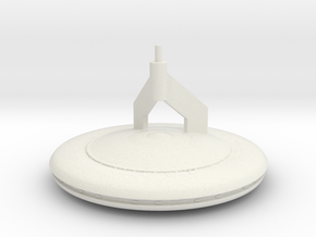 V Mothership Display Base v1 (Models to 1/64) in White Natural Versatile Plastic