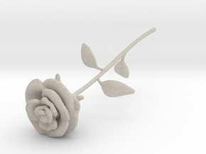 Rose in Natural Sandstone