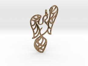 Openwork phoenix Pendant in Natural Brass