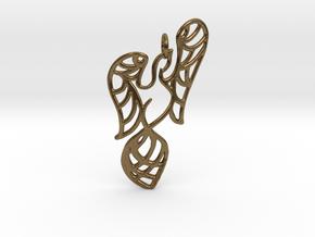 Openwork phoenix Pendant in Natural Bronze