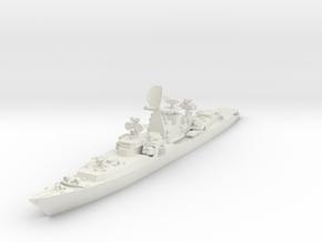 1/700 Soviet Kresta 2 class cruiser in White Natural Versatile Plastic