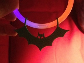 Bat Pendant (Multiple Pack 10) in Black Natural Versatile Plastic