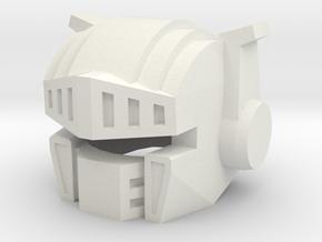 Robohelmet: Target Knight in White Natural Versatile Plastic