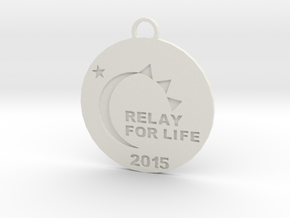 Relay for Life Keychain in White Natural Versatile Plastic