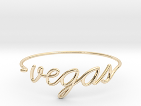 VEGAS Wire Bracelet (Las Vegas) in 14k Gold Plated Brass