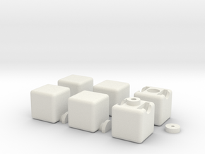 1x2x3 Cube in White Natural Versatile Plastic