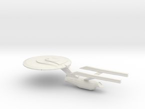 Constitution Class 24th Century Refit in White Strong & Flexible