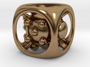 Dice No.1 M (balanced) (2.4cm/0.94in) in Natural Brass