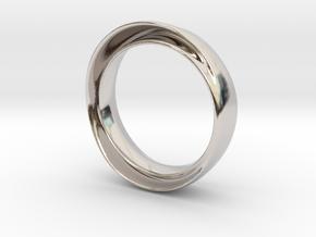 "'Endless Flow' - 16.5cm / 0.65"" - Size 6 in Platinum"
