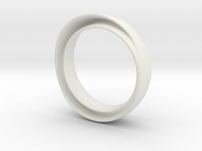 "'Endless Flow' - 16.5cm / 0.65"" - Size 6 in White Natural Versatile Plastic"
