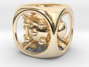 Dice No.1 L (balanced) (3.6cm/1.42in) in 14K Yellow Gold