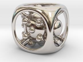 Dice No.1 L (balanced) (3.6cm/1.42in) in Platinum