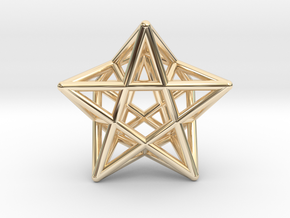 Star Pendant #2 in 14k Gold Plated Brass