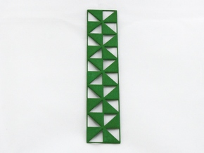 Pinwheel Bookmark in Green Processed Versatile Plastic