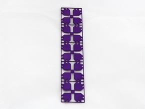Bear's Paw Bookmark in Purple Processed Versatile Plastic