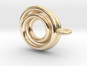 Mobious ball pendant in 14K Yellow Gold