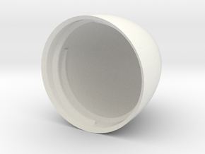 Egg V6 (30mm D x 45mm L) Bottom in White Natural Versatile Plastic
