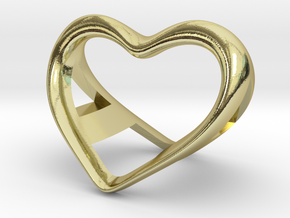 A and a Heart pendant in 18k Gold Plated Brass