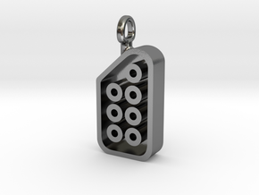 NES Hers Controller Pendant in Polished Silver