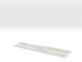 Dammtor Throat With Railings Thin Base in White Natural Versatile Plastic