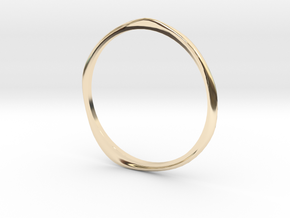 "Ring 'Curves' - 16.5cm / 0.65"" - Size 6 in 14k Gold Plated Brass"