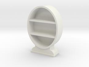 1:48 Oval Bookcase in White Natural Versatile Plastic