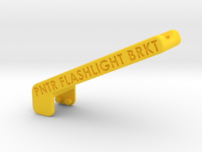 FlashlightBracket_150222 in Yellow Processed Versatile Plastic