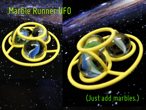 Marble Runner UFO in Yellow Processed Versatile Plastic