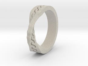 Infinity Wedding Band in Natural Sandstone