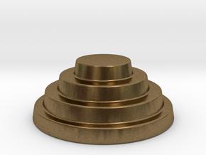 Devo Hat   15mm diameter miniature / NOT LIFE SIZE in Natural Bronze