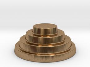 Devo Hat   15mm diameter miniature / NOT LIFE SIZE in Natural Brass