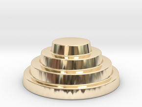 Devo Hat   15mm diameter miniature / NOT LIFE SIZE in 14k Gold Plated Brass