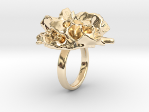 EUNICE Fractal Ring in 14k Gold Plated Brass