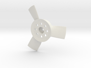 Düsenpropeller M59x59b3a035.stl in White Strong & Flexible