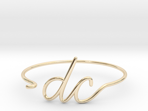DC Wire Bracelet (Washington, D.C.) in 14k Gold Plated Brass