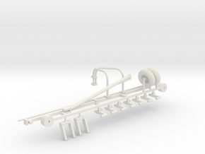 1/64 Hay Rake Frame Kit in White Natural Versatile Plastic