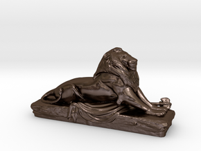 Lion sculpture  in Polished Bronze Steel
