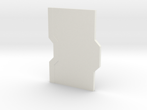 Interior Door Panel Thick - Closed in White Natural Versatile Plastic