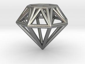Diamond pendant | necklace | bracelet in Natural Silver