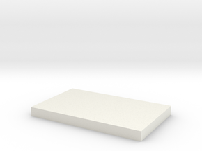 Thick Spacer in White Natural Versatile Plastic
