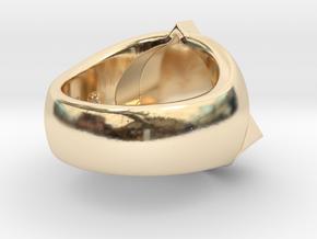 Saint Vitus Ring Size 14 in 14K Yellow Gold